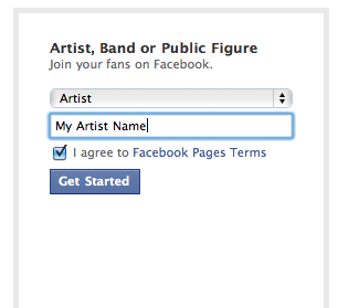 facebook choose type