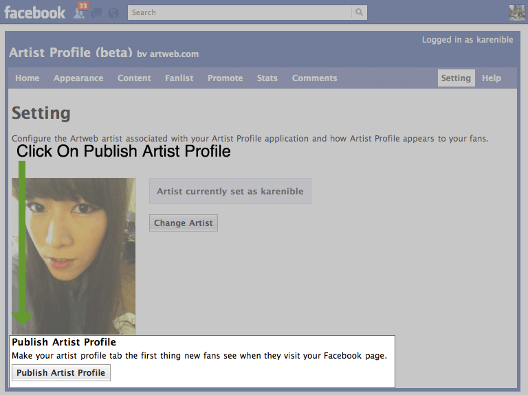 publish profile