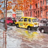 Taxis Outside The Midland - Pen & Wash
