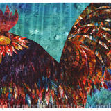 Le Coq - Acrylic collage