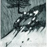 Snowmelt - Etching with aquatint