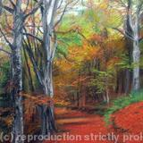 Autumn Colours I Print - Blank Greetings Card Print from Original Soft Pastel