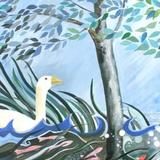 Noahs Birds Triptych1 - Acrylic on canvas
