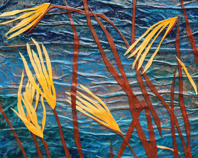Copper Lake - detail 1 mixed media painting	/><link rel=
