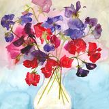 Sweet peas - watercolour