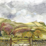 Between Dent and Sedburgh, Yorkshire Dales - Watercolour