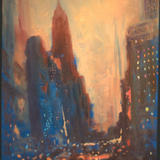 Manhattan - oil on panel