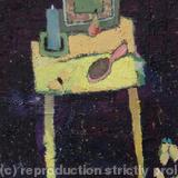 The yellow table - Oil on canvas