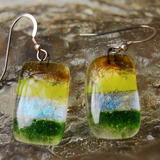 Glass Earrings Earth -