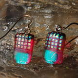 Glass Earrings Pink Pineapple -