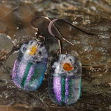 Glass Earrings Flower Bug -