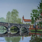 Bishop Bridge, Norwich. - Watercolour