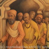 Sadhus - Indian Holy Men - oil painting on canvas