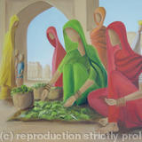 Vegetable Seller - Oil on Canvas