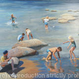 Crete, Rock Pools - Oil on board