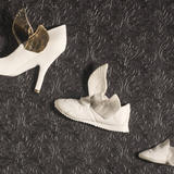 flying shoes - bone china with lustre