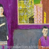 Family in Berlin detail - acrylic on canvas