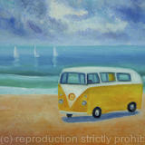 Camper Van - Oil on canvas