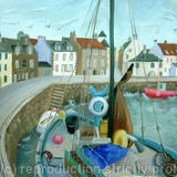 Pittweem Harbour - Oil on paper