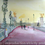 Pont Alexandre III Paris - Watercolour