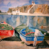 Fishing Boats, Madeira - watercolour