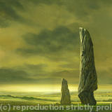 yellow-stones - oil on board