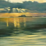 Clare Island from Westport - oil on canvas