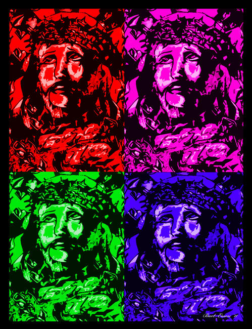 Quad Jesus digital designs 31x47cm