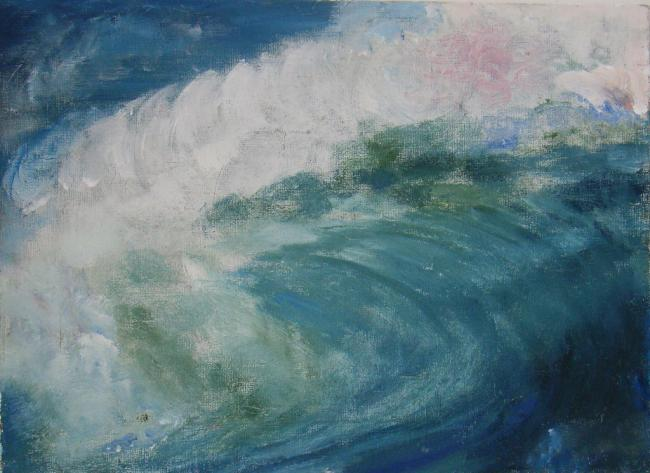 wavepower oil & acrylic on canvas 33x24cm