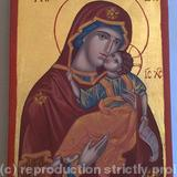 Virgin Mary with Child, Eleusa - egg tempera, gold (23k), pine board