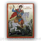 St. George - egg tempera, gold imitation, pine board