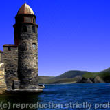 Collioure Bell Tower A4 PDF - PDF Image File