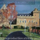 Dean Castle in Autumn - Pastel