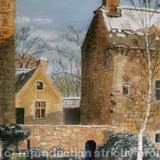 Dean Castle in Snow - Pastel on board