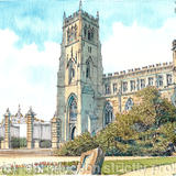 Kidderminster St Marys Worcestershire greeting card - Print from a pen and pencil original on 300g high quality white greeting card