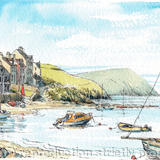 Parrog Nr Newpors Pembrokeshire S Wales - Printed on white hammered finish greeting card 300g