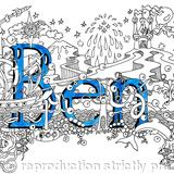 Ben , boys name card with blue envelope - Print on white hammer finish 300g quality card