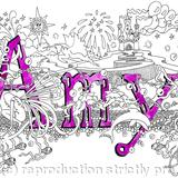 Amy name art card with purple envelope. Ashort messgae can be added below image - Printed on quality quality white card