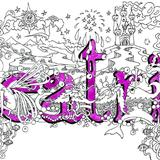 Beatrix name art greeting card with mathing purple envelope - Printed on quality card from an original pen and watercolour