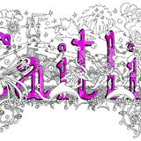 Caitlin greeting card with purple envelope - Printed on quality card from an original pen and watercolour