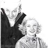 Astaire and Rogers - graphite opn paper