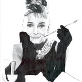 Audrey hepburn - graphite on paper