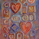 Love Collage - Acrylic and collage