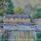Conwy Harbour, - Water-soluble pencils