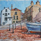 Robin Hoods Bay, N.E. Yorkshire - Pen, Watercolour & gouache