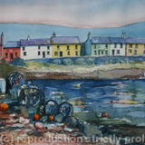 Portmagee, County Kerry, Ireland - Pen & watercolour