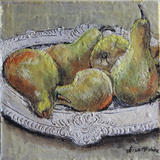 PEARS - ENCAUSTIC on BOARD