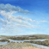Rock Pools in Northern Ireland - Oil on Canvas