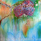 Hydrangeas - Mixed Media on Canvas