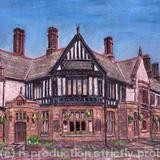 The George Hotel, Crosby Village, Liverpool - mixed media mono print